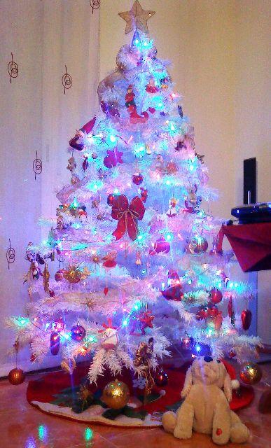 Rbol de navidad de mar a jos manzanares artes viator almer a espa a - Arbol navideno blanco decorado ...