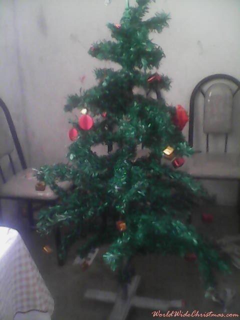 Árbol de navidad con periodico (Perú arequipa)