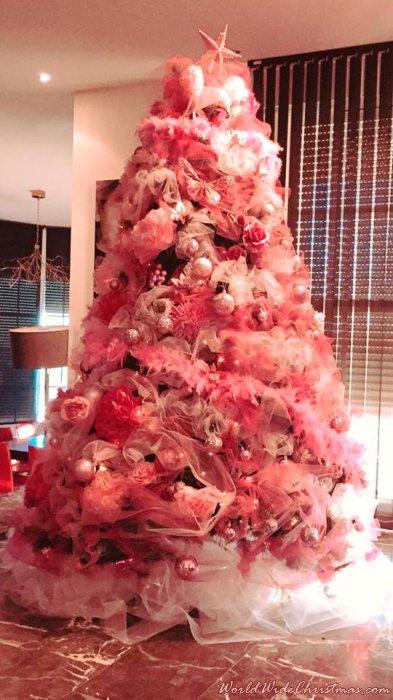 Rosa Weihnachtsbaum.Weihnachtsbaum Von árbol Rosa De La Irene Verdés Borriol