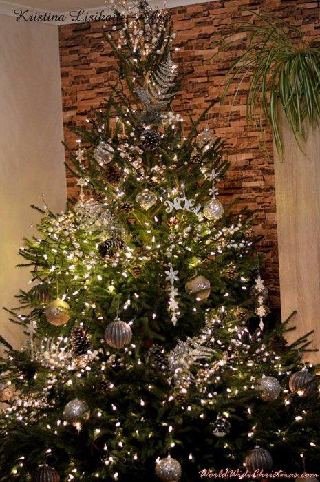 RUSTIC GLAMOUR christmas tree (Bridgwater, somerset, uk)